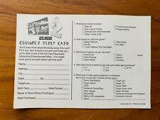 Earthworm Jim 2 🔥 Registration Card Insert 🔥 Super Nintendo Snes Rare