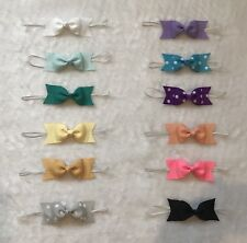 12 Pcs Multi color headband baby toddler girl headwear hair accessories 4 Inches