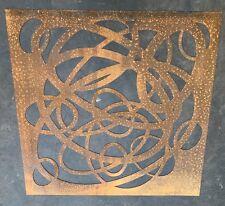 Decorative Garden Metal Fence Screen 'Lincarcs' 1200 X 1200 Corten