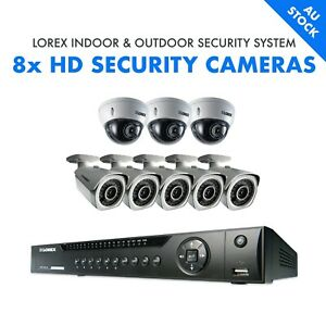 NEW Lorex Weatherproof Security System 8-Channel NVR + 3 Dome + 5 Bullet Cameras