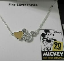 MICKEY Crystal ICON Gold HEART NECKLACE Disney MICKEY THE TRUE ORIGINAL NIB!