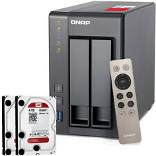 NEW QNAP TS-251+-2G-US 2-Bay Personal Cloud NAS  w/ 8TB (2x4TB) NAS Drives