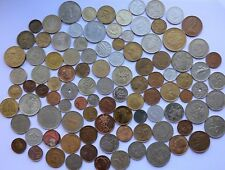 Huge bulk LOT OF 100 assorted World coins/ no duplicates/ mostly Europe 20th cen