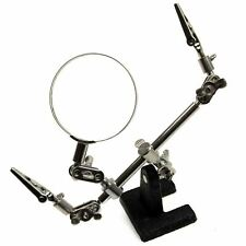 Third Helping Hands Free Magnifier Magnifying Glass Clamp Soldering Iron Te171