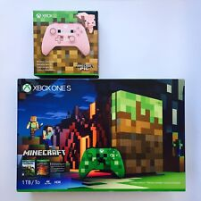 Xbox One S 1TB Limited Edition Console - Minecraft Bundle (Two Controllers)