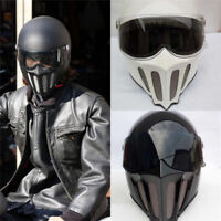 Japan TT&CO Thompson Ghost Rider Retro  Motorcycle Full Face Helmet Goggles