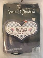 Good Shepherd Counted Cross Stitch Love Rules #83572 Butterfly Frame