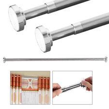 Curtain Rod Shower Adjustable Pole Tension Corrosion Durable Bathroom Hanging