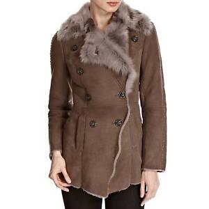 Shearling Boutique Amanda Toscana Sheepskin Smokey Brown Jacket XS L 8 12 £1300