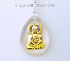 m/w Swarovski Beads Gold Buddha Crystal Suncatcher Car Charm Lilli Heart Designs