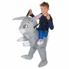 CHILDRENS INFLATABLE RABBIT KIDS FANCY DRESS COSTUME FARM PARTY OUTFIT