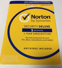Norton Internet Security Deluxe 5 Devices 1 Year DOWNLOAD version - Sent by Post
