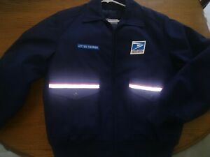 USPS Post Office Letter Carrier Thinsulate Jacket size LARGE w/ Zipped Liner USA