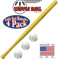 "Wiffle 32"" Bat and 3 Baseball Gift Set Bundle"