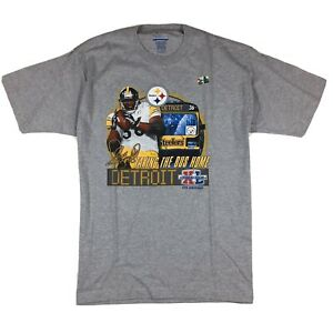Vintage Pittsburgh Steelers Jerome Bettis Taking the Bus Home T-Shirt Sz M