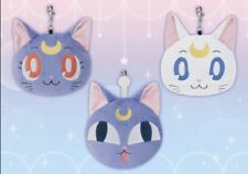 Sailor Moon Luna Artemis & Luna-P Ball Plush Pass Cases Banpresto Japan 2014