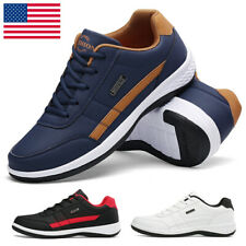 New listing Men's Leather Sneakers Casual Sports Golf Shoes Jogging Athletic Tennis Comfort