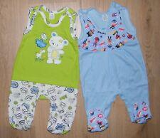 2er Pack Baby Strampler blau + grün Gr. 68 Baumwolle Babystrampler