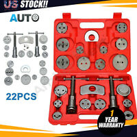 22pcs UniversaL Disc Brake Caliper Tool Set and Wind Back Kit for Brake Pad Red