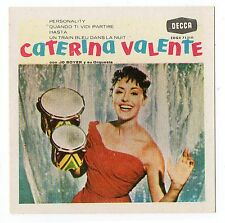 1960 Spanish Film Star Sticker Stamp Italian Singer Caterina Valente Album Cover