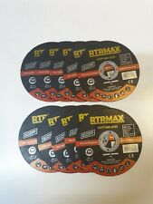RTRMAX 201908 115 X 1.0 X 22mm  EXTREME QUALITY metal Cutting Discs -Pack of 10