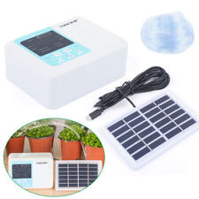 Timer Automatic Drip Irrigation Home Garden Plant Self Watering System Solar Kit