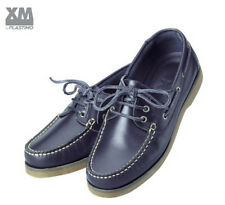 Chaussures bateau cuir bleu marine - Plastimo Crew navy