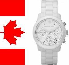 New Michael Kors MK5161 White Dial White Ceramic Chronograph Women's Watch