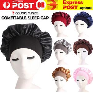 Sleeping Bonnet Hair Wrap Silk Satin Cap Women Elastic Night Soft Hat Headwear