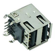 Tipo de conector USB 2.0 Dual un zócalo en ángulo PCB