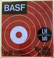 "BASF LP 35 LH Reel to Reel Tape, LP, 7"" (18cm) Reel, 1800 ft (550m), NOS"