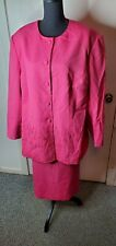 Glamour Suits Womens Pink Embellished 2pc Skirt Suit Sz 26W Pre-owned