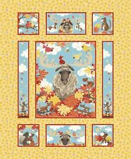 Suzybee Bruce the Moose  DIY Quilt Panel Fabric 36 x 43 inches