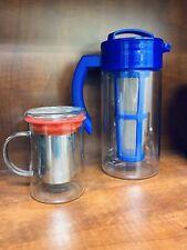 Lot Of 2 Teavana Tea Infusers - Ice Tea Pitcher And Remi Mug Glass Tea Infuser