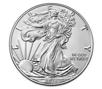 2018 Silver American Eagle BU 1 Oz Coin US $1 Dollar Brilliant Uncirculated Mint