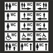 Toilettenschild WC Schild Kloschild Aufkleber Schilder ALU inkl. Montagematerial