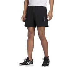 Adidas Hombre Pantalones Cortos Ejercicio Gimnasio Atletismo Liso Sj Negro Moda