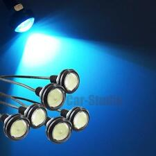 6pcs Universal 23mm 3w Ice Blue COB Eagle Eye LED DRL Tail Backup Lights