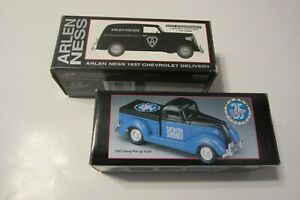 Arlen Ness & Drag Specialties TWO Diecast Banks 1937 Delivery and Pickup Truck