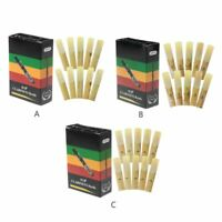 10pcs/set Bb Clarinet Reeds Bamboo Traditional Reed Strength 2.0 / 2.5 / 3.0