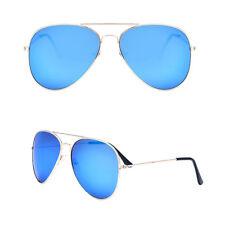 Unisex para Mujer Hombre Moderno Aviador Lente Espejo Gafas de Sol Vintage Retro