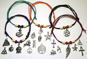 Ankle Bracelet  Anklet  Adjustable Slide Knot, Waxed Cotton Cord, Hippi, Surfer.