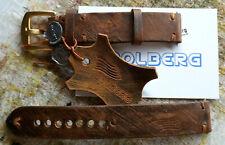 16 bis 26  mm Uhrenarmband Braun Vintage - Exklusiv. Molberg Original. NEU!