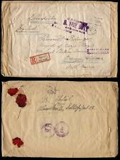 GERMANY 1923 INFLATION REGISTERED COVER to USA..Stamps used as seal only