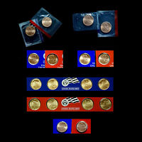 2005, 2006, 2007, 2008, 2009 & 2010  P+D  Lincoln Satin Penny Set from Mint Set
