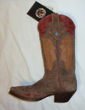 Star W7144 Size 7B Womens Indian Head Western Cowgirl Boots DISTRESSED BROWN NEW