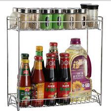 Spice Rack Organizer Kitchen Wall Shelf Storage Holder Jar Bottle Condiment Herb