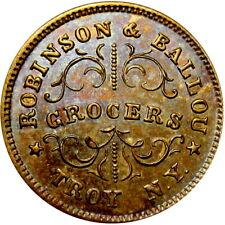 1863 Troy New York Civil War Token Robinson & Ballou Grocers