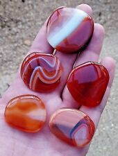 Polished Carnelian Palmstone - Palm Stone - Healing - Reiki - Crystals