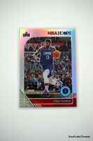2019-20 NBA Hoops Premium Stock PAUL GEORGE SILVER PRIZM SP #132 Clippers